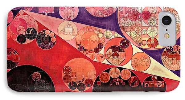 Abstract Painting - Milano Red IPhone Case