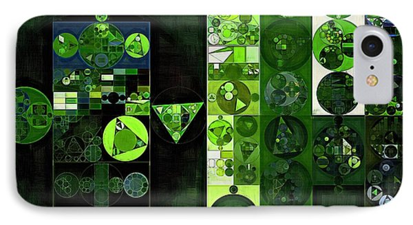 Abstract Painting - Sap Green IPhone Case