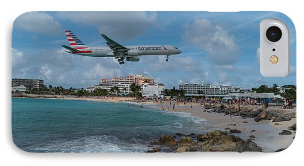 American Airlines Landing At St. Maarten IPhone Case
