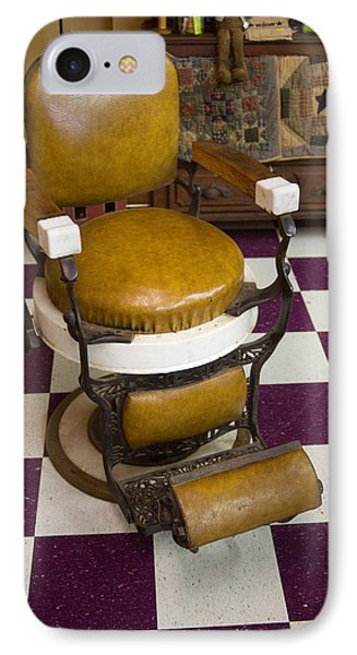 Antique Barber Chair 3 IPhone Case