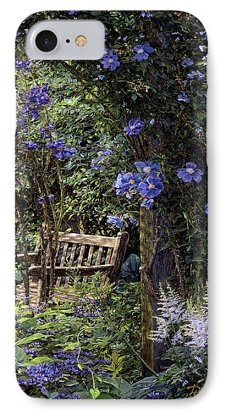 Blue Garden Respite IPhone Case