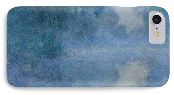 Impressionism iPhone 8 Case - Branch Of The Seine Near Giverny by Claude Monet