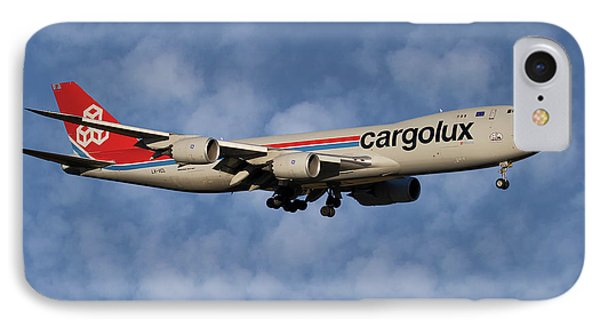 Jet iPhone 8 Case - Cargolux Boeing 747-8r7 1 by Smart Aviation