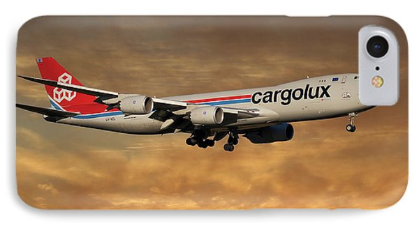 Jet iPhone 8 Case - Cargolux Boeing 747-8r7 2 by Smart Aviation