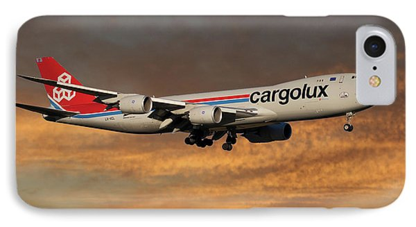 Jet iPhone 8 Case - Cargolux Boeing 747-8r7 3 by Smart Aviation