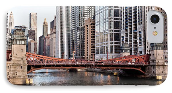 Chicago Downtown At Lasalle Street Bridge IPhone Case