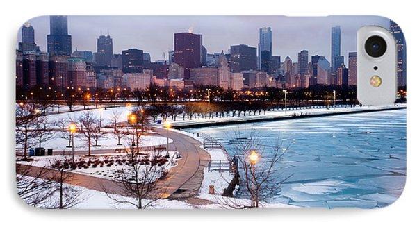 Chicago Skyline In Winter IPhone Case