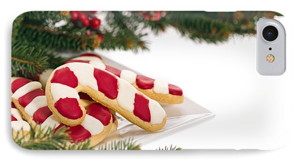 Christmas Cookies Decorated With Real Tree Branches IPhone Case