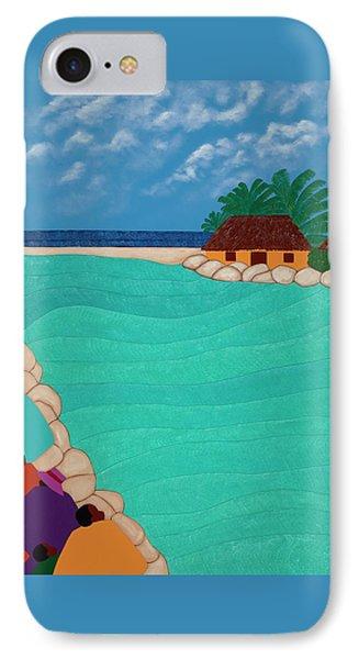 iPhone 8 Case - Curacao Lagoon by Synthia SAINT JAMES