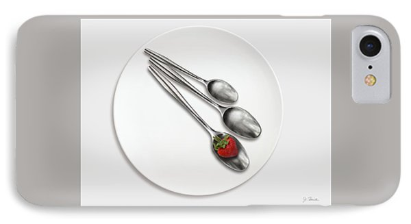 Dish, Spoons And Strawberry IPhone Case