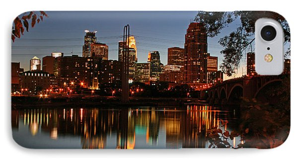 Downtown Minneapolis At Night IPhone Case