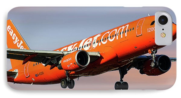 Jet iPhone 8 Case - Easyjet 200th Airbus Livery Airbus A320-214 by Smart Aviation