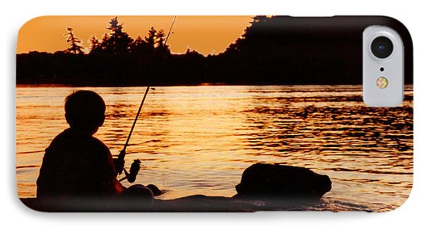 Fishing From A Rock  IPhone Case