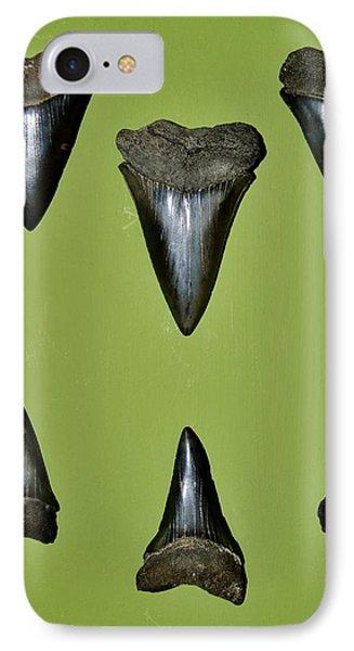 Fossil Mako Shark Teeth IPhone Case