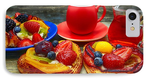 Fruit Desserts And Cup Of Coffee IPhone Case