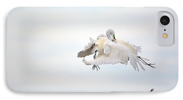 Great Egrets Mating Dispute Series  IPhone Case