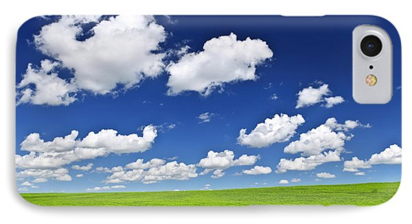 Green Rolling Hills Under Blue Sky IPhone Case