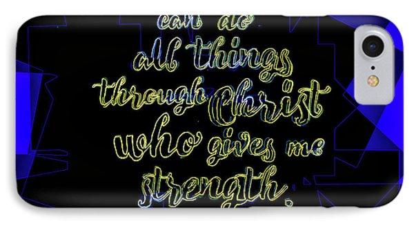 Hisworks Godart Philippians 4 13 The Truth Bible Art IPhone Case