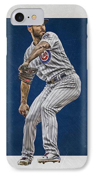 Jake Arrieta Chicago Cubs Art IPhone Case