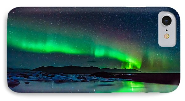Jokulsarlon Aurora IPhone Case