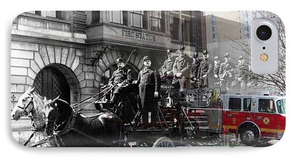 Market Street Fire Station IPhone Case