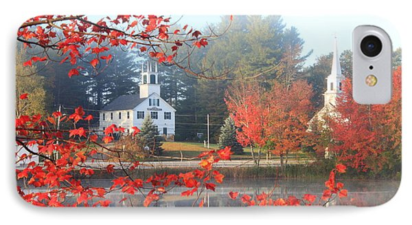 Marlow New Hampshire Early Autumn Fog IPhone Case