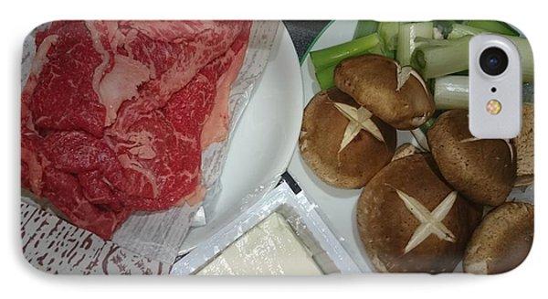 Materials Of The Sukiyaki Dish  IPhone Case
