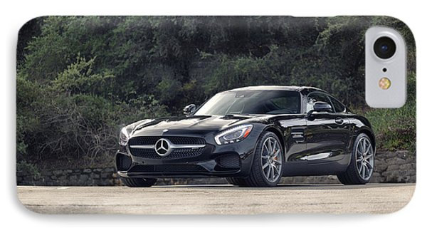 #mercedes #amg #gts IPhone Case