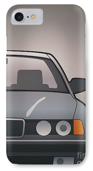 Modern Euro Icons Series Bmw E32 740i IPhone Case