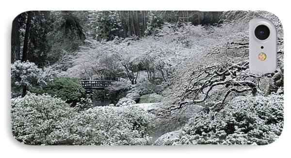 Morning Snow In The Garden IPhone Case