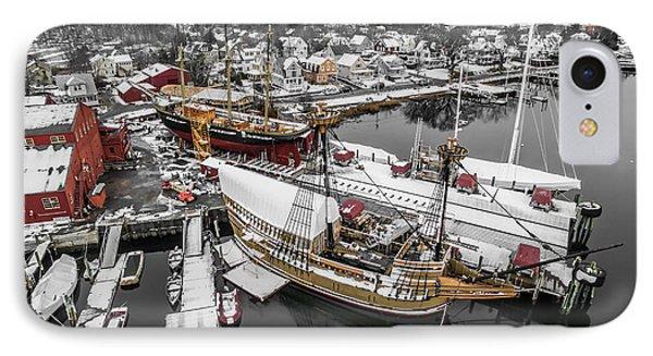 Mystic Seaport In Winter IPhone Case