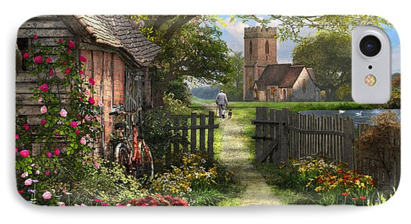 Old Church Path IPhone Case