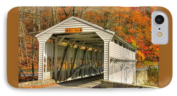 Pa Country Roads - Knox Covered Bridge Over Valley Creek No. 2a - Valley Forge Park Chester County IPhone Case