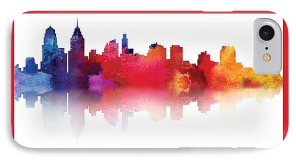 philadelphia PA Skyline II IPhone Case