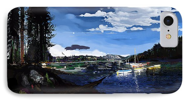 Pinecrest And Boats IPhone Case