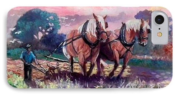 Ploughing  IPhone Case
