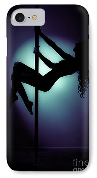 Pole Dancer In Silhouette IPhone Case