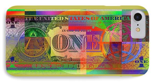 Pop-art Colorized One U. S. Dollar Bill Reverse IPhone Case
