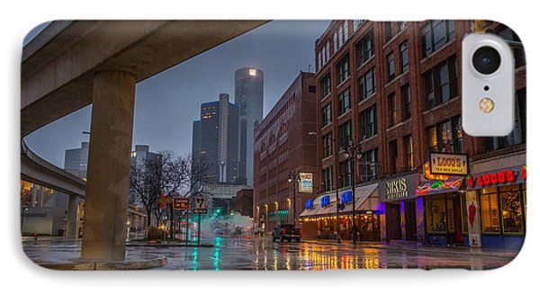 Rainy Night In Detroit  IPhone Case