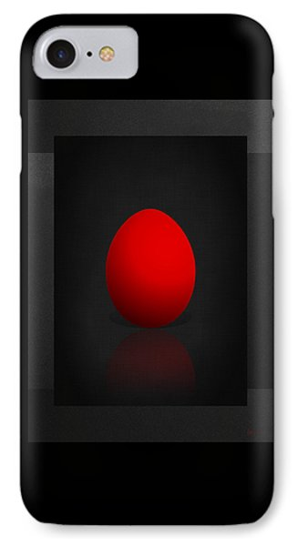 Red Egg On Black Canvas  IPhone Case