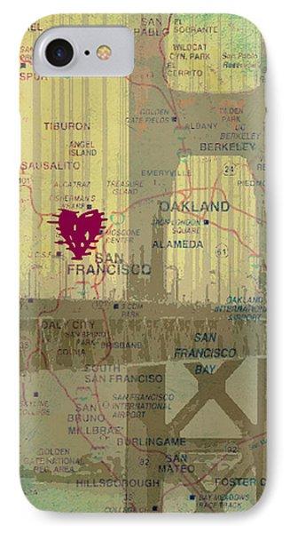 San Francisco Heart Map V4 IPhone Case