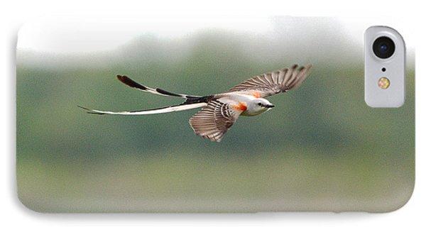 Scissor-tailed Flycatcher In Flight IPhone Case