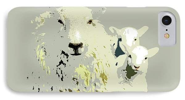Sheep With Lambs IPhone Case