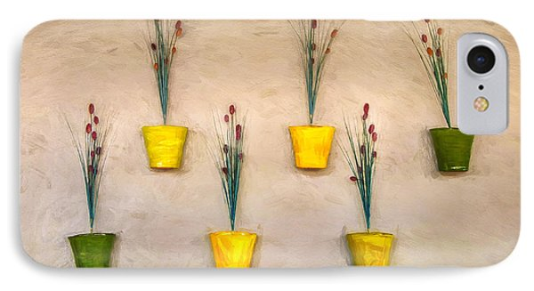 Six Flower Pots On The Wall IPhone Case