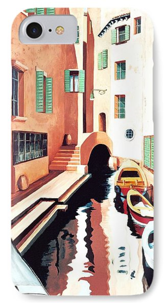 Streets Of Venice - Prints From Original Oil Painting IPhone Case