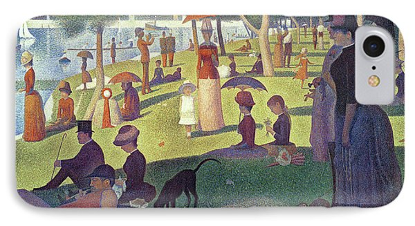 Dog iPhone 8 Case - Sunday Afternoon On The Island Of La Grande Jatte by Georges Pierre Seurat