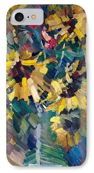 Impressionism iPhone 8 Case - Sunflowers by Nikolay Malafeev