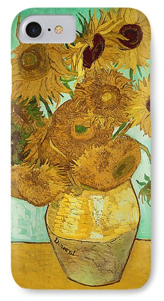 Impressionism iPhone 8 Case - Sunflowers By Van Gogh by Vincent Van Gogh