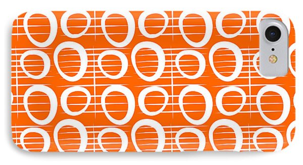 Fruit iPhone 8 Case - Tangerine Loop by Linda Woods