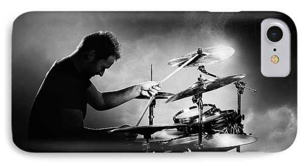 Music iPhone 8 Case - The Drummer by Johan Swanepoel